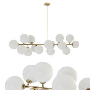 3D chandelier inflora 16 plafonds model