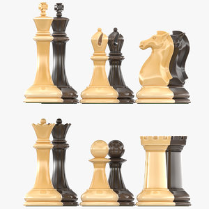 chess pieces 3D