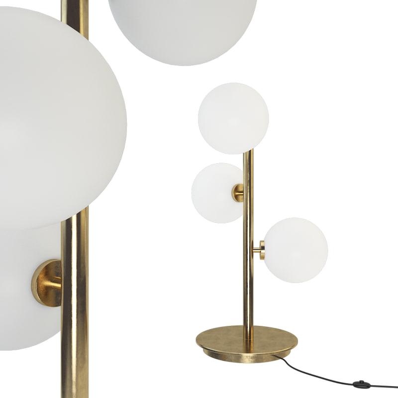3D bubble chandelier table lamp model