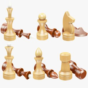 3D chessmen chess model