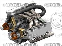 3D v6 engine model