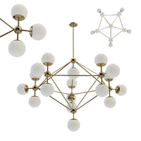 3D model chandelier modo gold 18