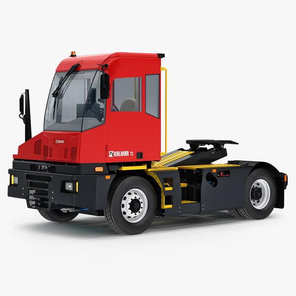 3D kalmar t2 terminal tractor model