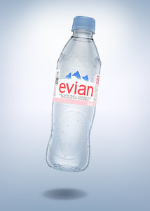 bottle evian 50cl model
