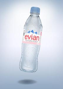 bottle evian 50cl model
