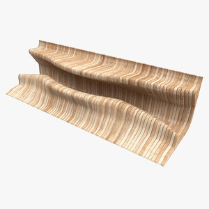3D model wooden parametric desk bench