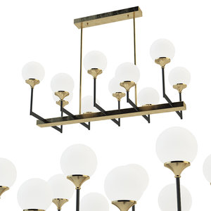 3D ball valley chandelier 10 model