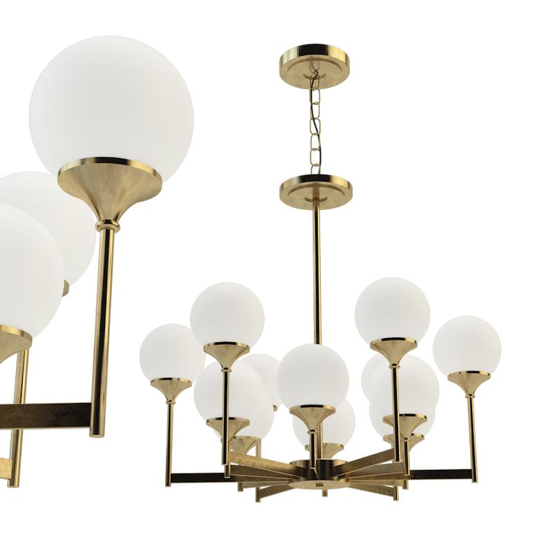 ball valley chandelier 12 3D