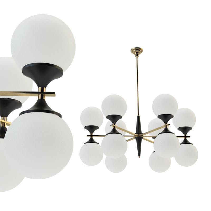 ball valley arredoluce chandelier 3D model