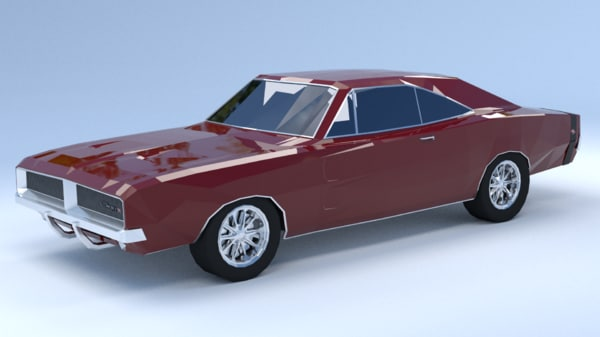 dodge charger rt 3D