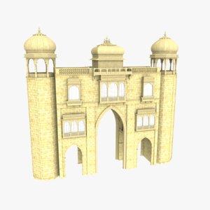 3D ancient gate