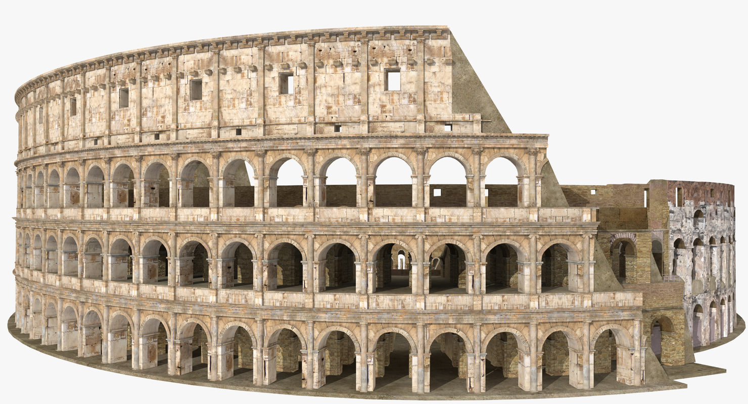 3D colosseum ruined model