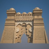 castle kasbah 3D model