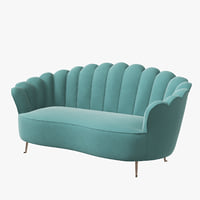 3D eichholtz sofa messina