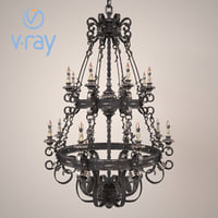 3D forged chandelier modeled