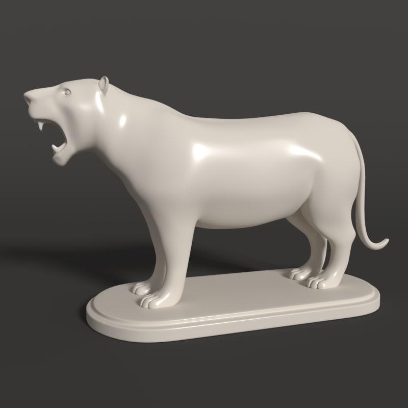 tiger statue 3D
