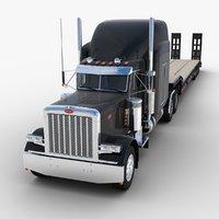 Lowboy Semi-trailer Truck V3