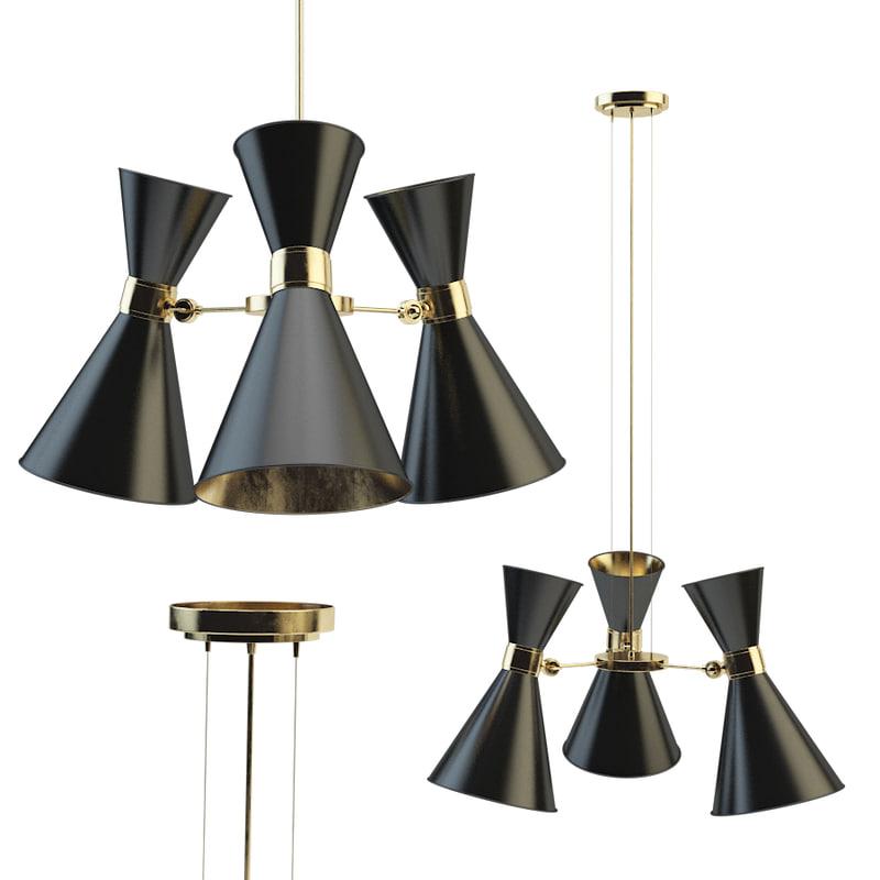3D model delightfull cairo chandelier 3