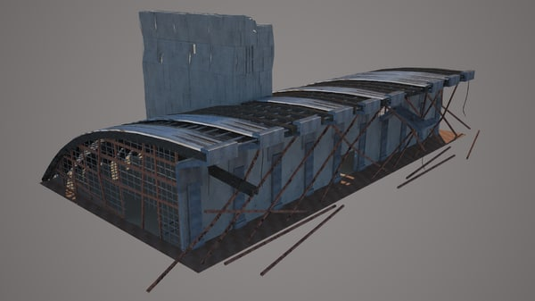 convention center destroyed 3D model