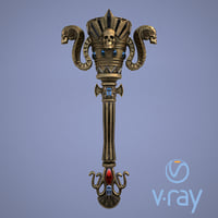 fantasy torch 3D model