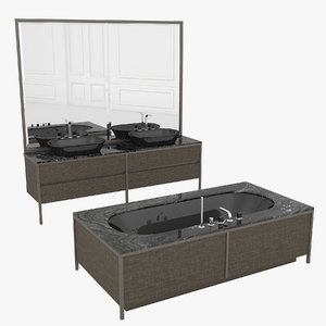 3D model bathroom set algonquin