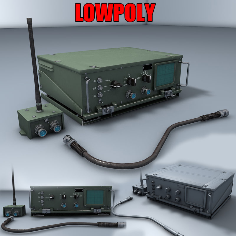 military radio transceiver 3D model