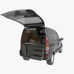 mobile kitchen car renault 3D model