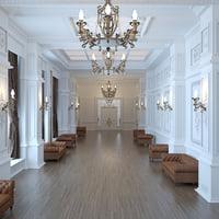 3D classic corridor