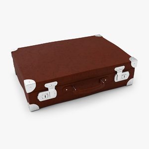 leather suitcase 3D