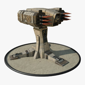 3D model futuristic missile launcher