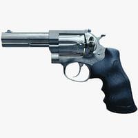 3D revolver realistic pbr model