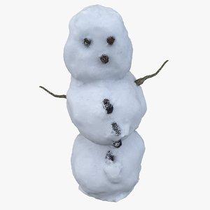 scan snowman 3D model