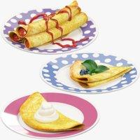 pancakes plate v2 3D model