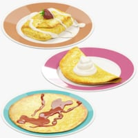 Pancakes on Plate Collection V4