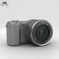 sony alpha a5000 3D model