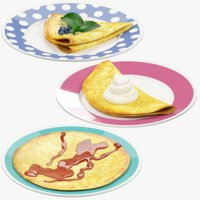 Pancakes on Plate Collection V5