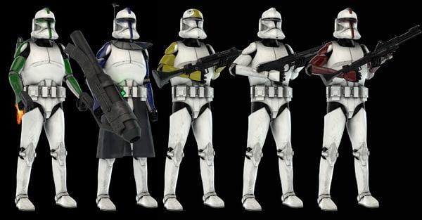 clones 3D model