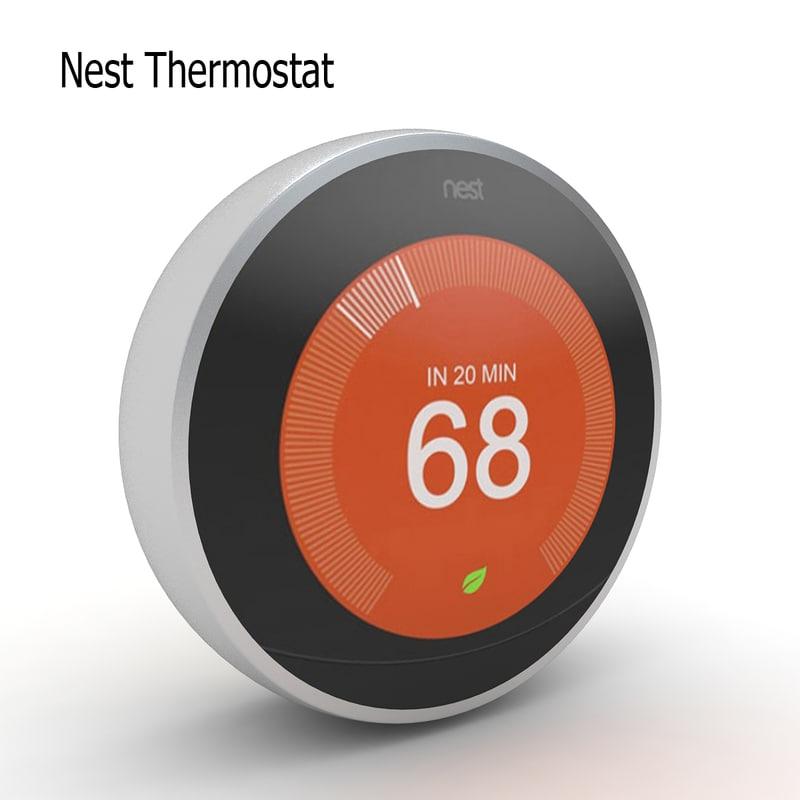 3D nest thermostat