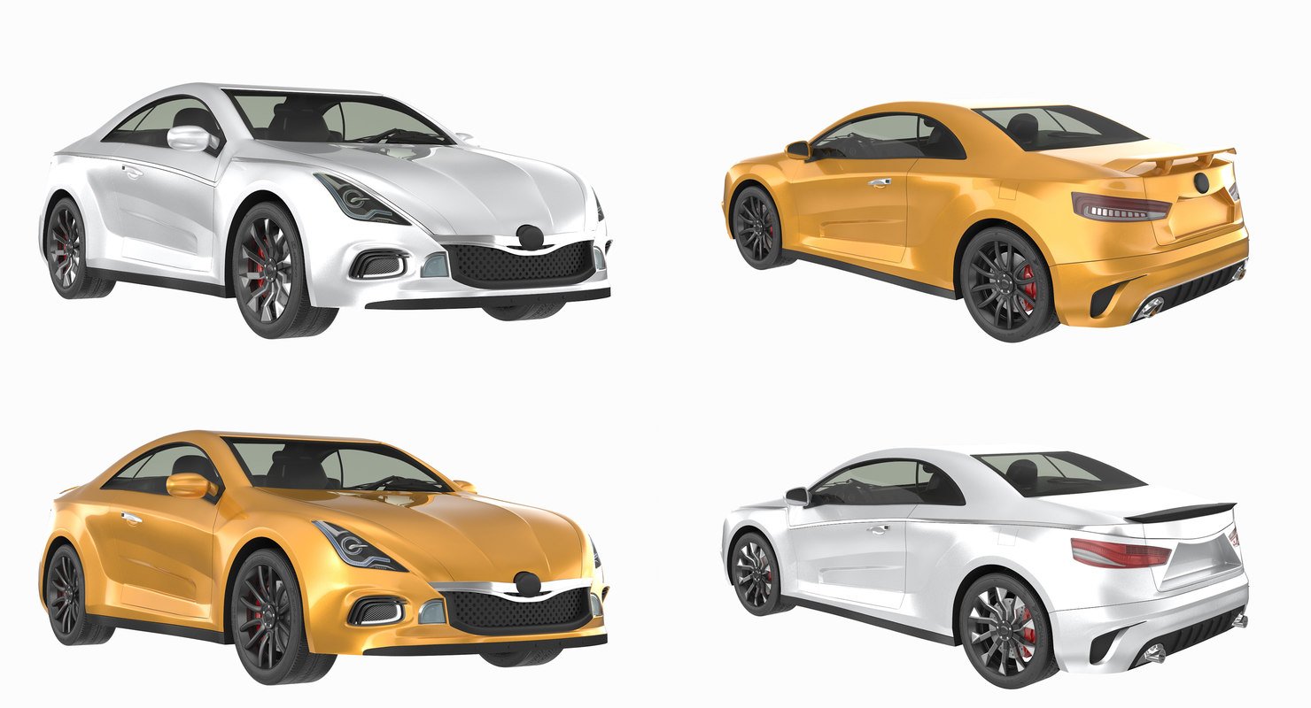 generic agressive sport car 3D model