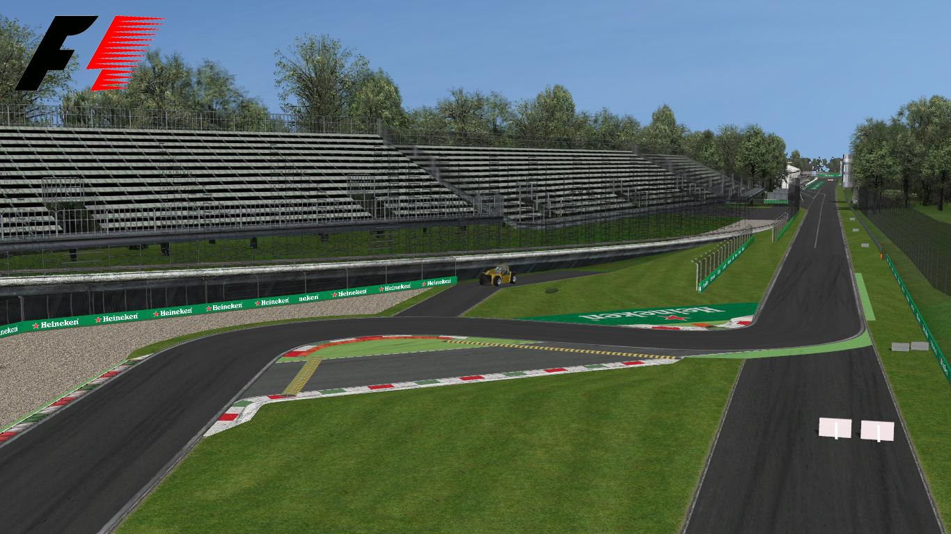 3D monza f1 track
