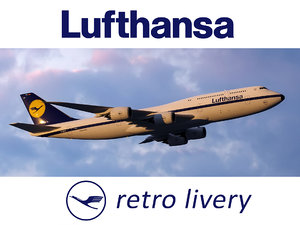boeing 747-8 lufthansa airlines 3D model