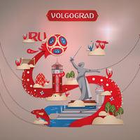volgograd 3D model