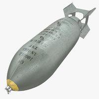 3D bomb an-m65 44 an-m65-44 model