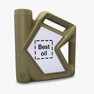 3D motor oil bottle