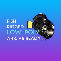 3D tamarin wrasse low-poly rigged