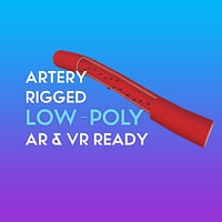 3D Artery w Cells LOW-POLY
