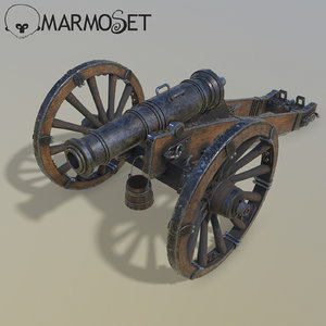 3D model cannon unicorn modeled