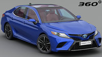 3D model toyota camry xse 2018