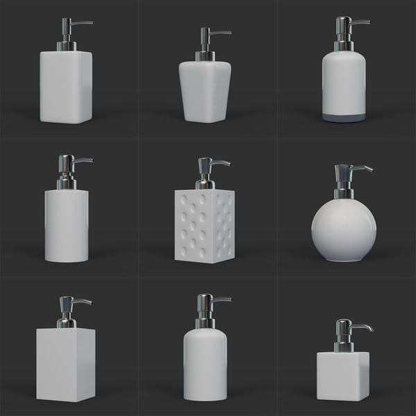 3D clean soap dispenser