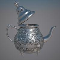 teapot moroccan tea 3D